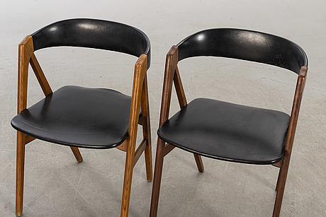 Stolar, ett par, danmark, 1900-talets mitt.
