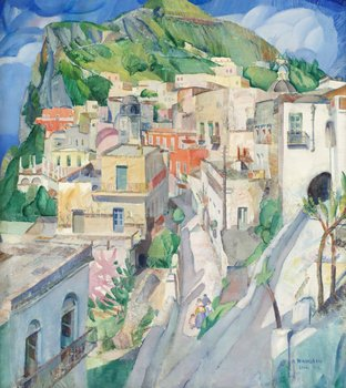 2. Acke Hallgren, Landskap från Capri.