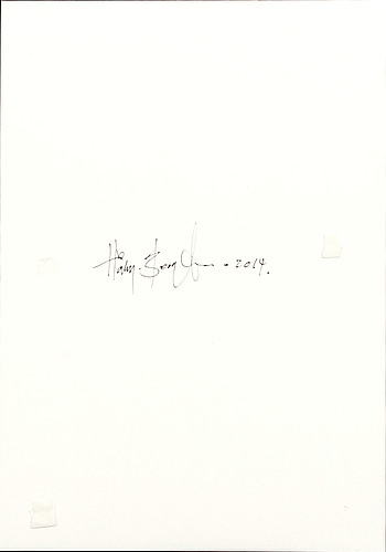 Håkan bengtsson, photo/pencil unique signed and dated 2014.