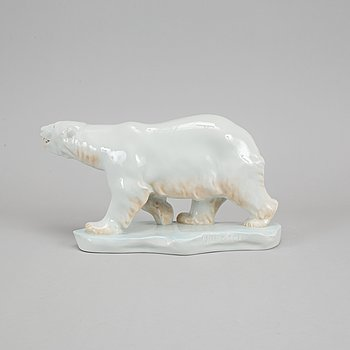 Herend, a 5267 porcelain polar bear, Hungary.