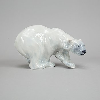 Royal Copenhagen, a 089 porcelain polar bear, Denmark.