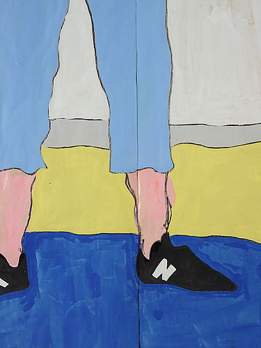 Jimmy merris, acrylic and lacquer on masking paper, executed in 2015.