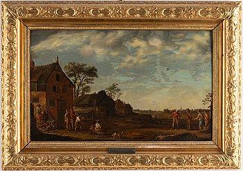 Egbert van Heemskerk, follower of, oil on panel.