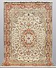 A carpet, tabriz part silk, ca 302 x 200 cm.