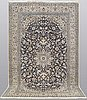 A carpet, nain part silk so called 9laa, ca 316 x 190 cm.