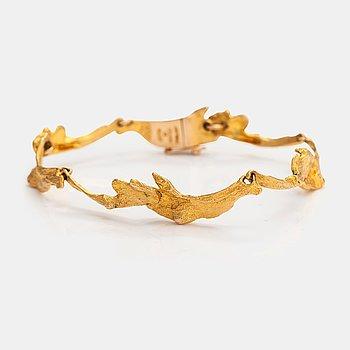 """Björn Weckström, A 14K gold bracelet """"Orchid Psychedelic"""". Lapponia 1969."""