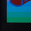 Victor vasarely, silkscreen in colours, signed 69/275.