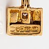 "Björn weckström, korvakorupari ""thai"", 18k kultaa, 8/8-hiottuja timantteja n. 0.04 ct yht. lapponia 1976."