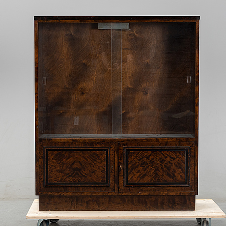 A 1930/40's stained birch vitrine cabinet.