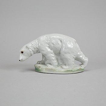 Isbjörn, lykta, porslin.
