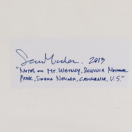 Sean micka, pencil on paper, signed and dated 2013 on verso on label.
