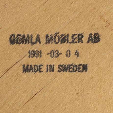 """Karmstol, åke axelsson """"bohem"""" för gemla 1991."""