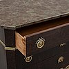 A gustavian style chest of drawers, early 20th century.