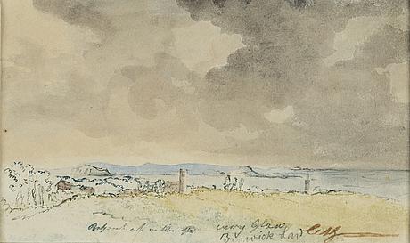 Carl samuel graffman, watercolour, signed.