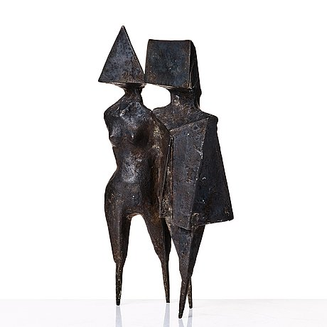 "Lynn chadwick, ""walking couple ii""."