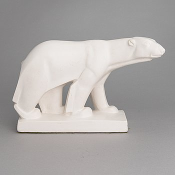 Jussi Mäntynen, a plaster sculpture, signed and dated 1943.