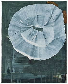 Andreas Eriksson, signed and dated Medelplana 2008 on verso. Acrylic and oil on canvas.