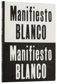 "406. Lucio Fontana, ""Manifesto Blanco 1946. Spazialismo""."