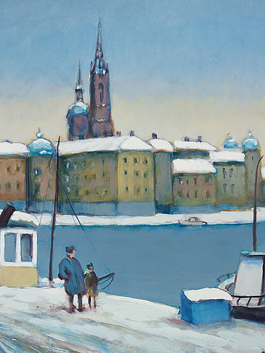 Gunnar stålbrand, oil on panel, signed and dated -78.