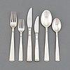 A 'rosenholm' silver cutlery service, jacob ängman, gab. (84 pieces).