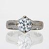 Ring 18k vitguld med 1 briljant 1,52 ct h si1, gia certifikat 2010.
