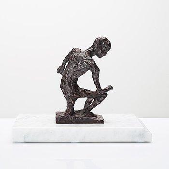 Asmund Arle, sculpture, bronze, signed Asmund Arle, foundry mark H. Bergman Cire Perdue.