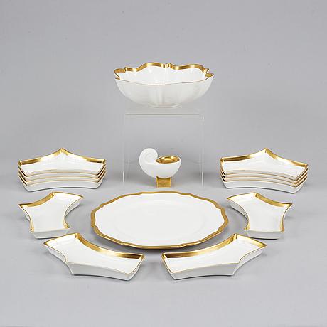 "Karin björquist, a 15 pieces porcelain service, ""nobel"", rörstrand, sweden."