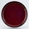 Stig lindberg, stoneware plate, gustavsbergs studio, signed.