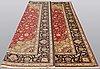 A carpet, täbriz part silk, 341 x 248 cm.