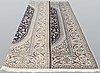 A carpet, nain part silk s.k 9laa, ca 406 x 249 cm.