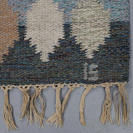Ingegerd silow, a carpet, flat weave, ca 205,5-207 x 135-136,5 cm.
