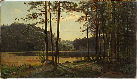 Carl wilhelm jaensson, oil on canvas, signed and dated 1883.