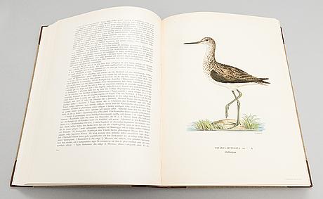 "Book, 3 vol, ""svenska fåglar"", m,w & f von wright. 1924 and 1929 stockholm."