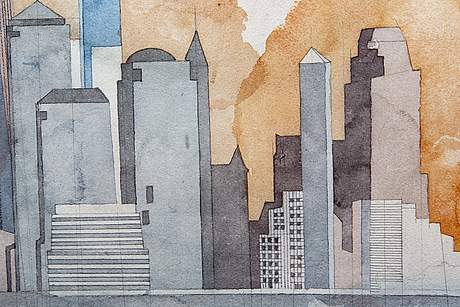 Jorge castillo, a signed and dated water colour.