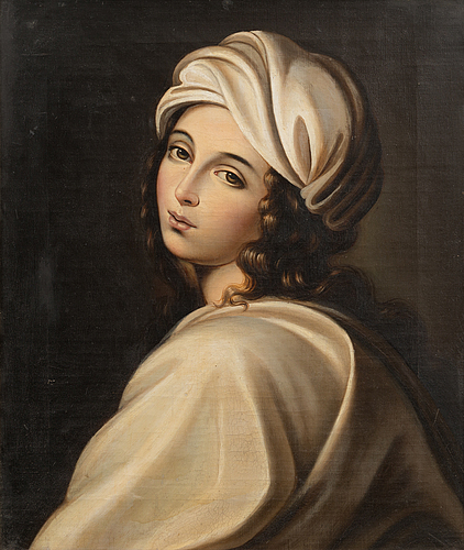 Unknown artist, oil on canvas, 19th/20th century.