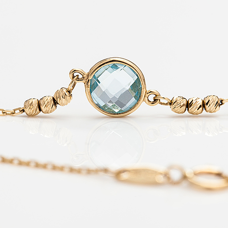 Armband, 14k guld, topas. kultajousi, helsingfors.