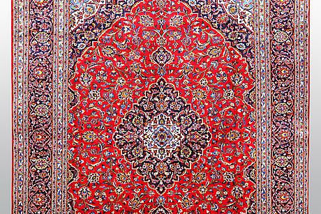 A carpet, kashan, signed ghoybi ca 395 x 300 cm.
