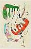 Wassily kandinsky, after, lithograph, from derrière le miroir. no. 179, june 1969.