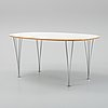 Bruno mathsson & piet hein, a 'superellips' dining table, bruno mathsson international, 2005.