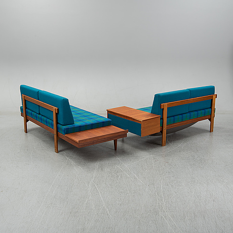 Haldor vik & ingmar relling, two sofas and a table, ekornes fabrikker a/s, norway, 1970's.