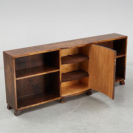 A 1940's birch bookshelf.