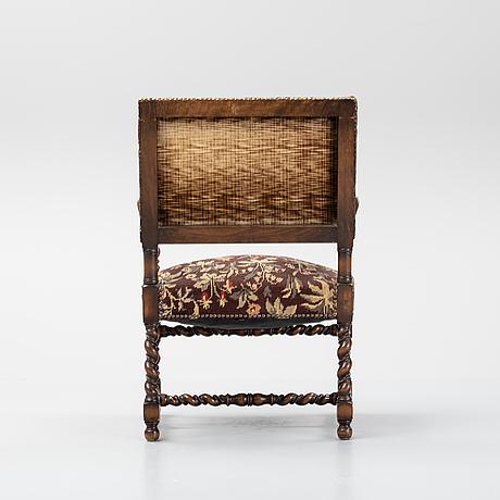 A baroque-style armchair, nordiska kompaniet 1926.