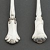 Two silver serving cutlery, k anderson, stockholm 1922 and 1937.