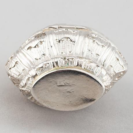 A danish silver box, philip gerhard schenck,  köpenhamn 1774-84.