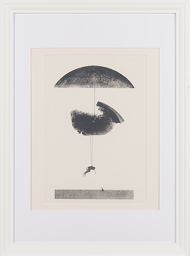 Gunnar pohjola, litograph, signed and dated -67, numbered 69/99 tpl'a.