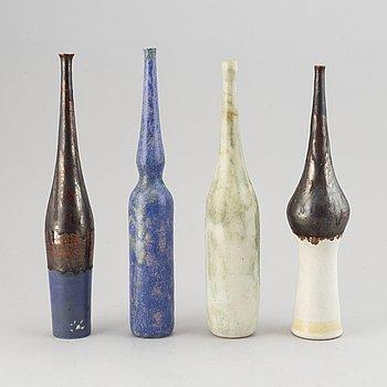 Gambone, a set of four ceramic vases, Italy 1950-60's.
