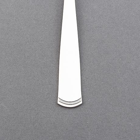Jacob ängman, silver cutlery, 32 pcs, rosenholm, gab.