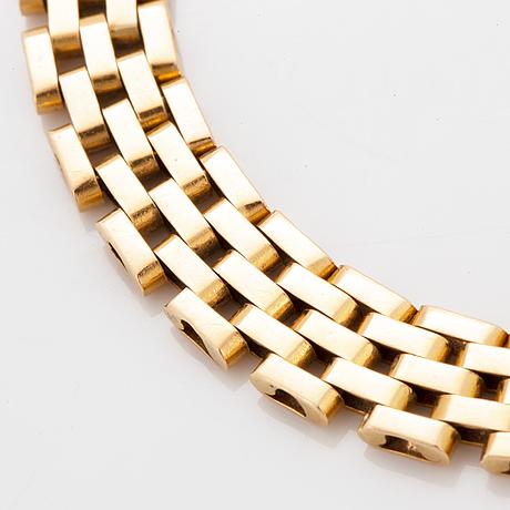Armlänk, 18k guld, korridorlänk.