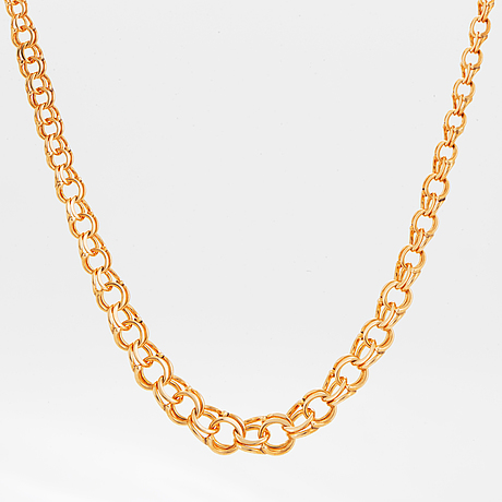 18k rose gold necklace.