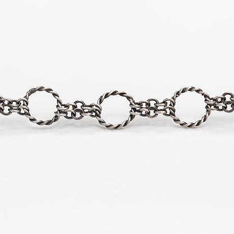 A sterling silver bracelet, model 425. kalevala koru, helsinki 1972.